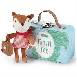 MUD PIE BLUE ADVENTURE TRAVEL FOX-IN-A-BOX SET