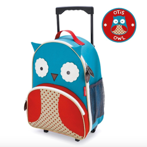 SKIP HOP ZOO KIDS ROLLING LUGGAGE OWL