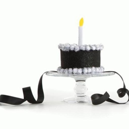 TRUMPETTE TRUMPETTE BLACK BIRTHDAY CAKE HAT