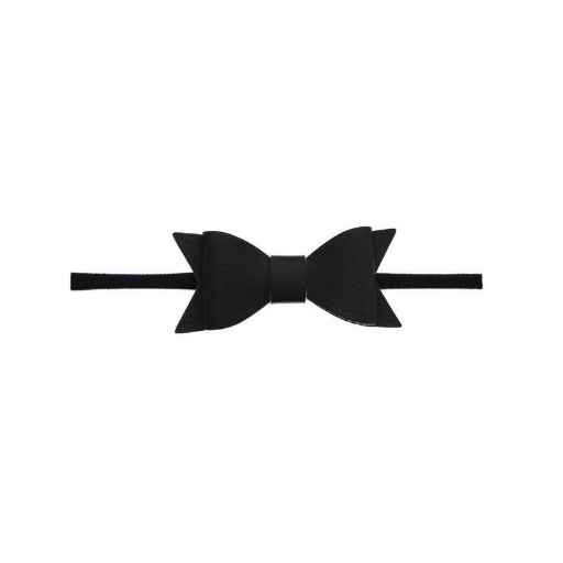 BABY BLING BABY BLING SKINNY LEATHER BOW TIE HEADBAND