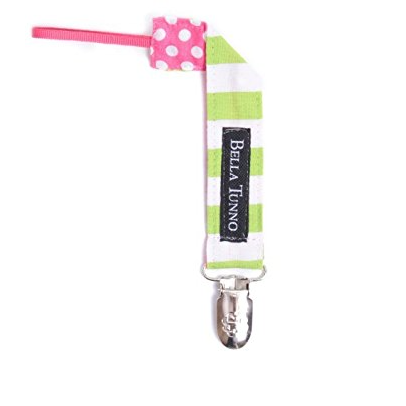 BELLA TUNNO CITRUS RUGBY/PINK DOT PACIFIER CLIP