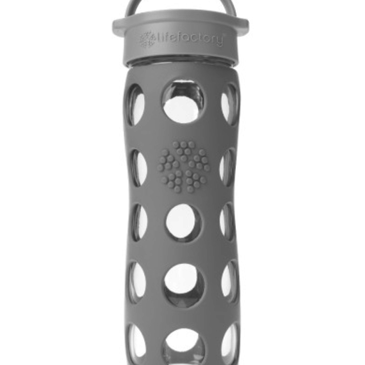 LIFEFACTORY 16 OZ CARBON GLASS BOTTLE WITH  SILICONE SLEEVE