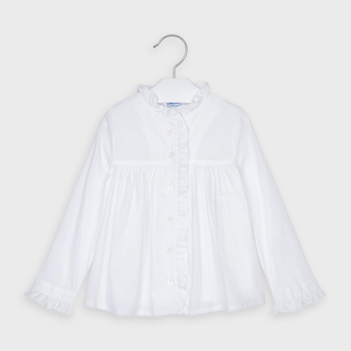 MAYORAL USA MAYORAL PLEATED BLOUSE - BB1116252