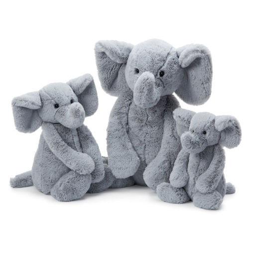 """JELLYCAT INC BASHFUL LARGE GREY ELEPHANT 15"""""""