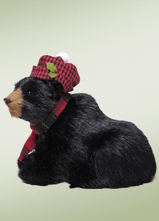 BYERS' CHOICE SEATED BLACK BEAR