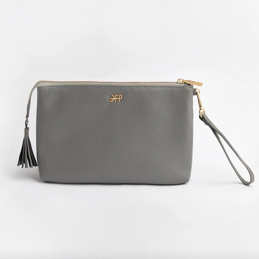 FRESHLY PICKED FRESHLY PICKED CLASSIC ZIP POUCH IN STONE