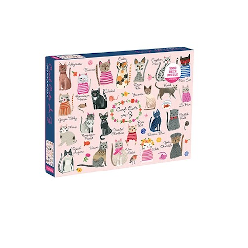 CHRONICLE BOOKS COOL CATS 1000 PIECE PUZZLE