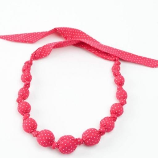 PEPPERCORN KIDS BEADED CLOTH SPRINKLE DOTS NECKLACE