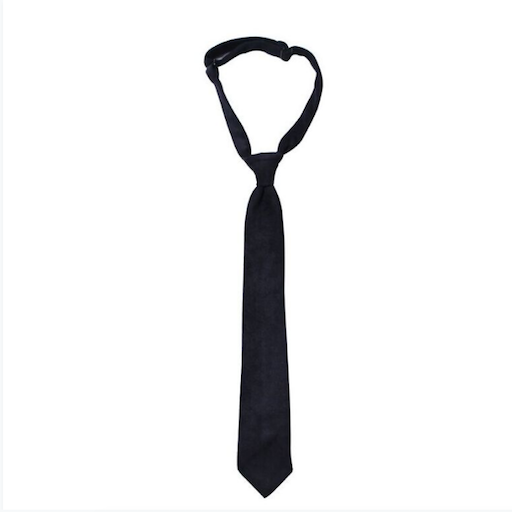 FORE AXEL & HUDSON NAVY SUEDE NECK TIE