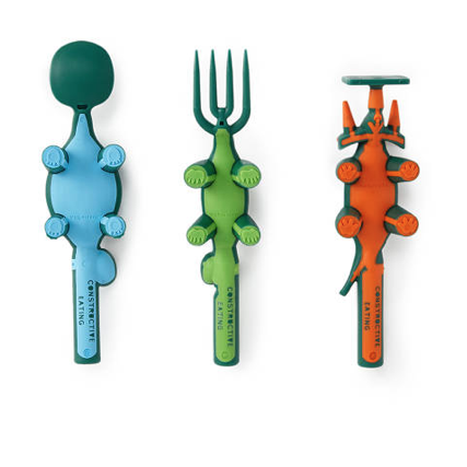 CONSTRUCTIVE EATING DINO FORK