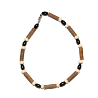 MOMMA GOOSE PRODUCTS ADULT HAZELWOOD BROWN & CREAM NECKLACES