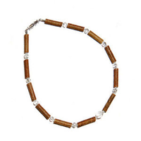 MOMMA GOOSE PRODUCTS HAZEL WOOD CLEAR BABY NECKLACE
