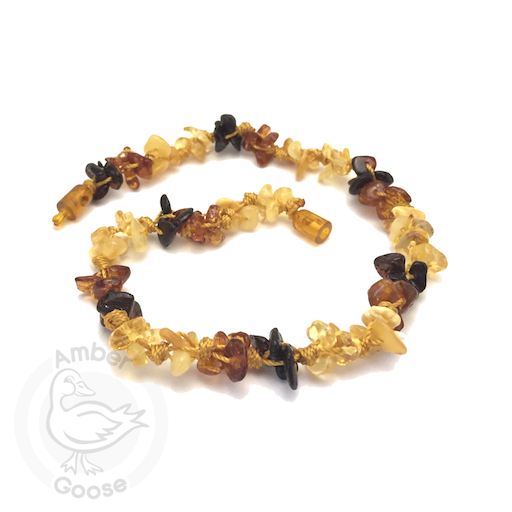 MOMMA GOOSE PRODUCTS AMBER CLUSTERLY MUTLI AMBER TEETHING BABY NECKLACE