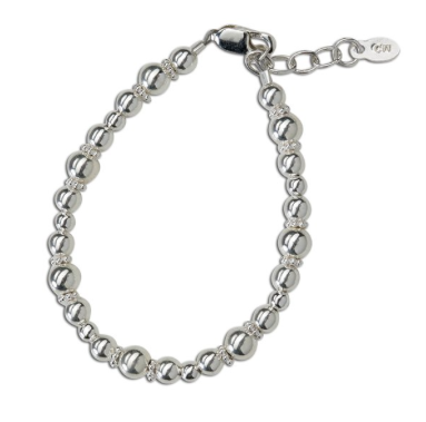 CHERISHED MOMENTS, LLC SILVER BRACELET WITH DAISIES