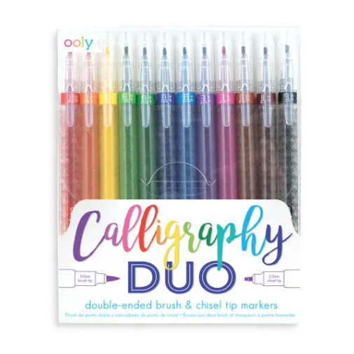 INTERNATIONAL ARRIVALS CALLIGRAPHY DUO CHISEL AND BRUSH TIP MARKERS