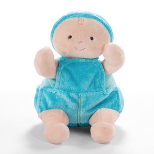 """NORTH AMERICAN BEAR COMPANY 10"""" BLUE ROSY CHEEKS BABY JEANS"""