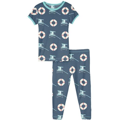 KICKEE PANTS PRINT SHORT SLEEVE PAJAMA SET - BB1121539