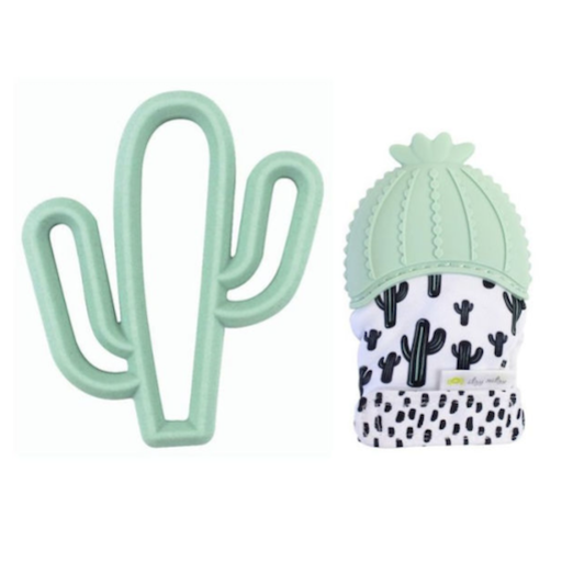 ITZY RITZY ITZY RITZY CACTUS TEETHING MITT AND TEETHER GIFT SET