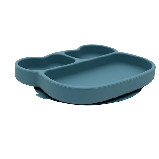 WE MIGHT BE TINY BEAR STICKIE PLATE IN DUSK BLUE