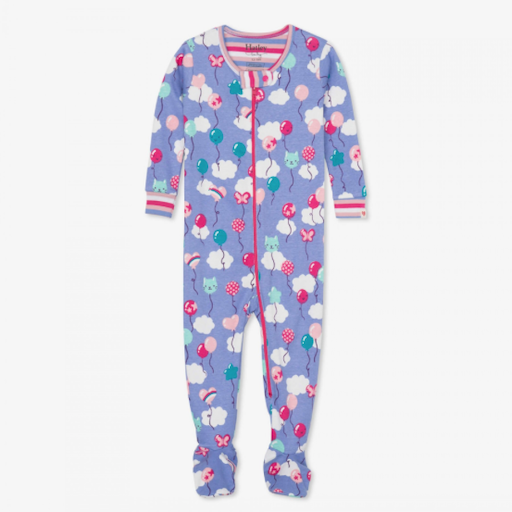 HATLEY PARTY BALLOONS ORGANIC COTTON FOOTED COVERALL