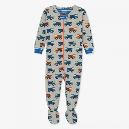 HATLEY DUMP TRUCKS ORGANIC COTTON FOOTED COVERALL