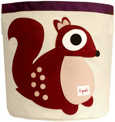 3 SPROUTS 3 SPROUTS BERRY SQUIRREL STORAGE BIN