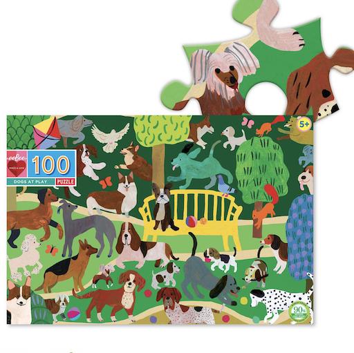 EEBOO DOGS AT PLAY 100 PIECE PUZZLE