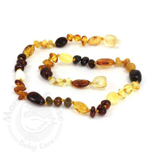 MOMMA GOOSE PRODUCTS BABY AMBER TEETHING NECKLACE-BAROQUE - BB127952
