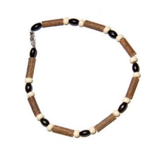 MOMMA GOOSE PRODUCTS HAZEL WOOD BROWN CREAM BABY NACKLACE