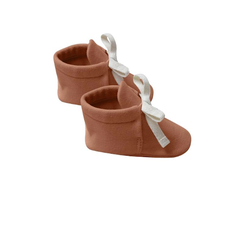 QUINCY MAE ORGANIC BRUSHED JERSEY BABY BOOTIES - BB1111745