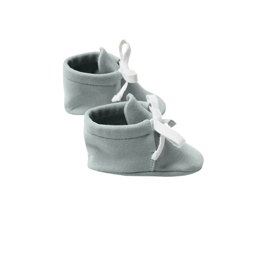 QUINCY MAE ORGANIC BRUSHED JERSEY BABY BOOTIES - BB1111737
