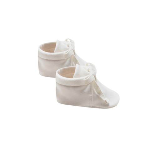QUINCY MAE ORGANIC BRUSHED JERSEY BABY BOOTIES - BB1111733