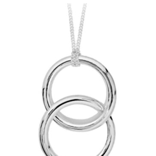 MOMMA'S JEWELS STERLING SILVER 2 RING NECKLACE