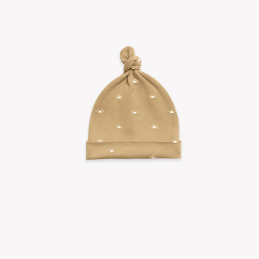 QUINCY MAE ORGANIC BRUSHED JERSEY KNOTTED  BABY HAT - BB1115569