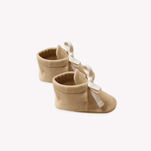 QUINCY MAE ORGANIC BRUSHED JERSEY BABY BOOTIES - BB1115554