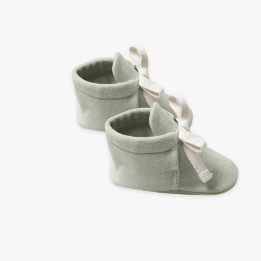 QUINCY MAE ORGANIC BRUSHED JERSEY BABY BOOTIES - BB1115561