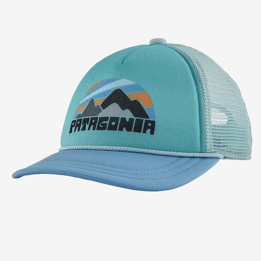 PATAGONIA KIDS INTERSTATE TRUCKER HAT, LAGO BLUE, O/S