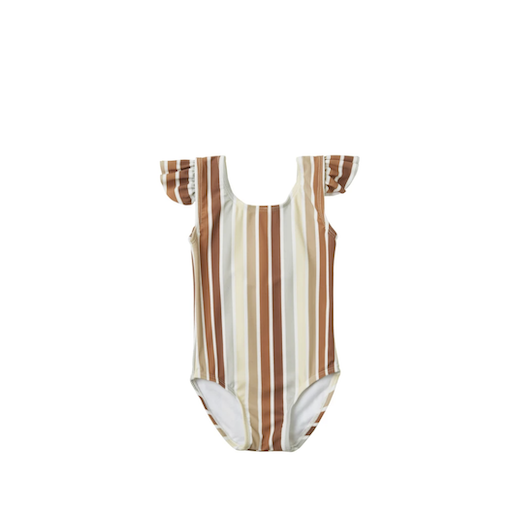 RYLEE AND CRU FRILL STRIPE ONE PEICE SWIMSUIT - BB1119605