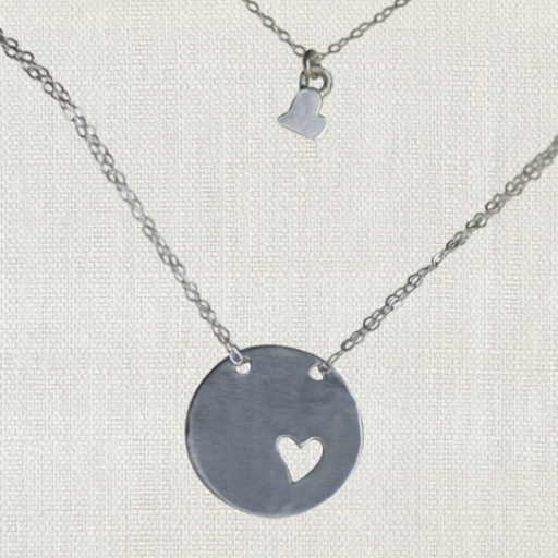 """SWOON PIECE OF MY HEART 18"""" NECKLACE"""