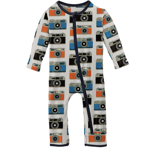 KICKEE PANTS PRINT COVERALL WITH ZIPPER IN MOM'S CAMERA - BB1121283