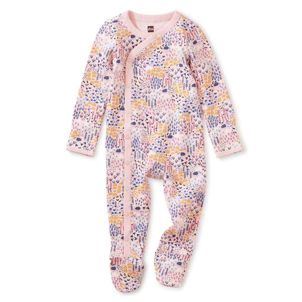 SIDE SNAP FOOTED BABY ROMPER - BB1120066