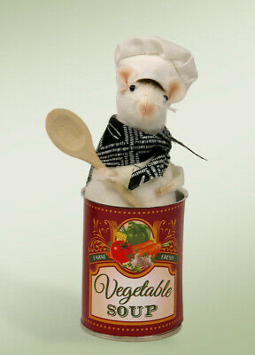 BYERS' CHOICE MOUSE IN SOUP CAN