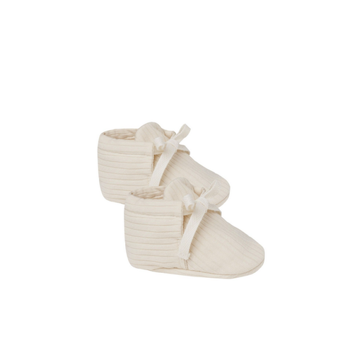 QUINCY MAE RIBBED BABY BOOTIES - BB1121742
