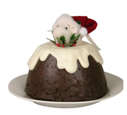 BYERS' CHOICE MOUSE IN PLUM PUDDING