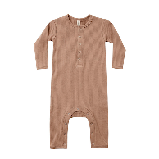 QUINCY MAE ORGANIC RIBBED BABY JUMPSUIT - BB1121688