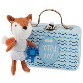 MUD PIE BLUE HOORAY POTTY FOX-IN-A-BOX SET