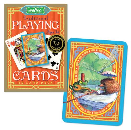 EEBOO FROG & HEDGEHOG TRADITIONAL 52 PLAYING CARDS