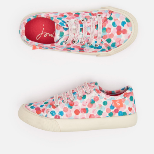 JOULES COAST PUMP CANVAS LACE UP SNEAKERS - BB1100963