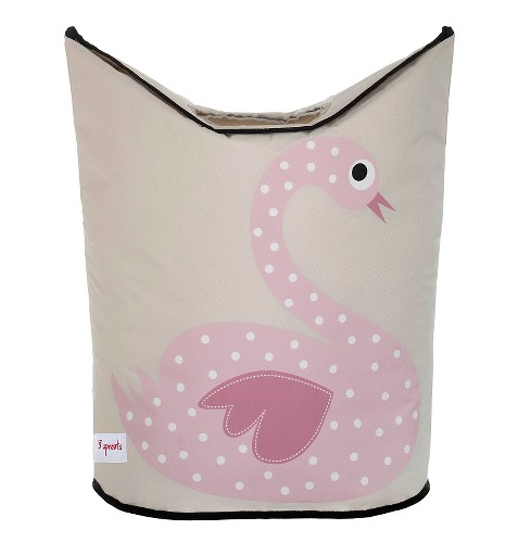 3 SPROUTS 3 SPROUTS SWAN LAUNDRY HAMPER