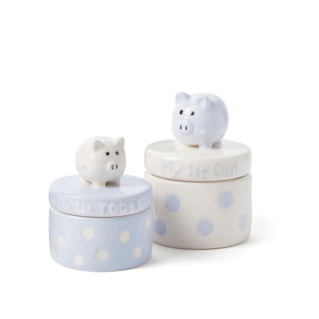 ELEGANT BABY BLUE PIGGIES TOOTH & CURL SET